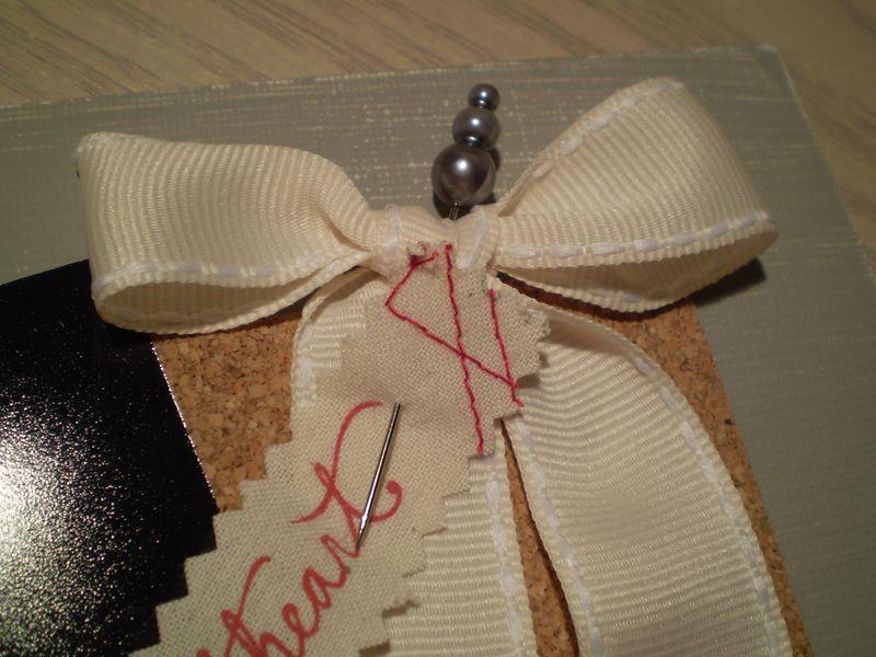 Gray canvas ribbon