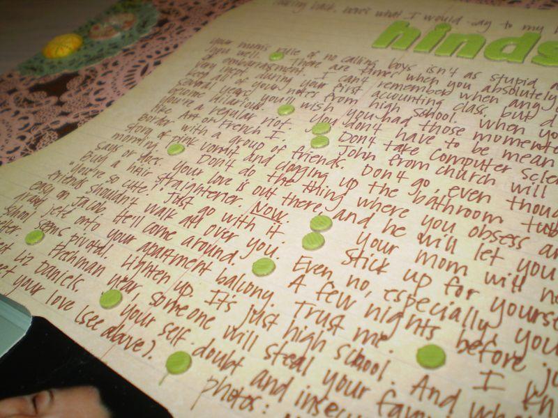 Hindsight journaling