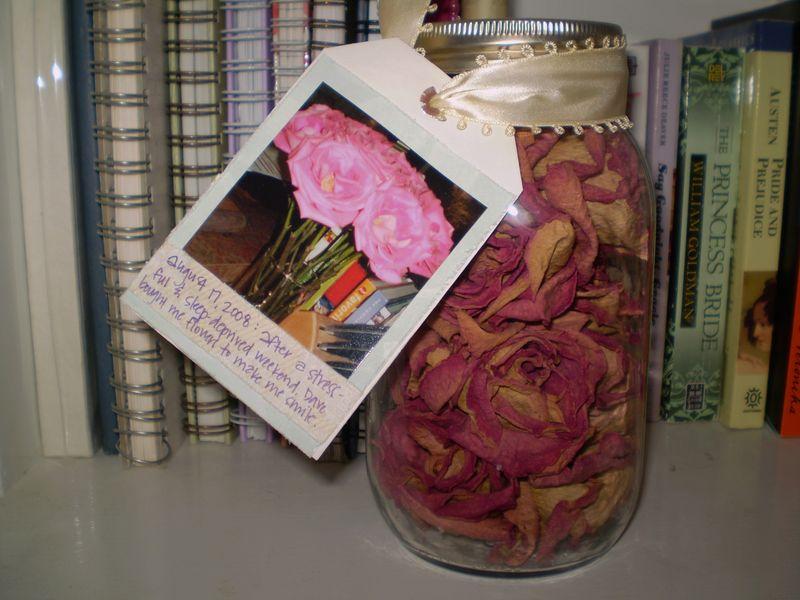 Rose jar tag back