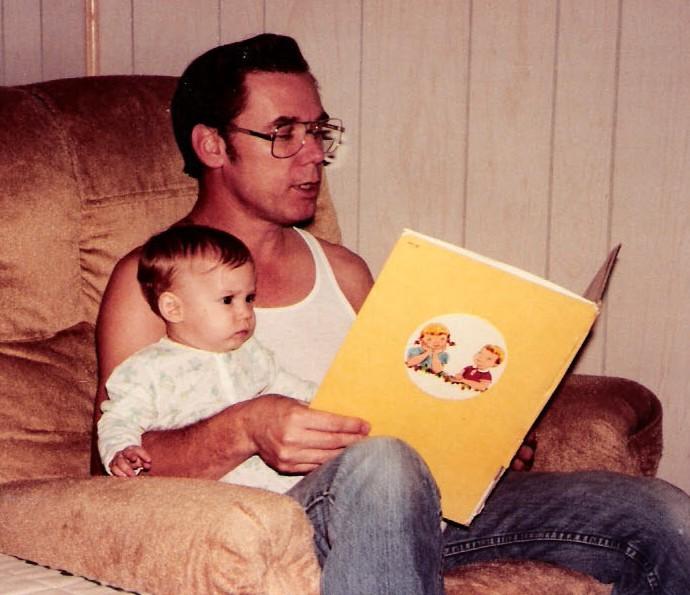 Papa & me reading