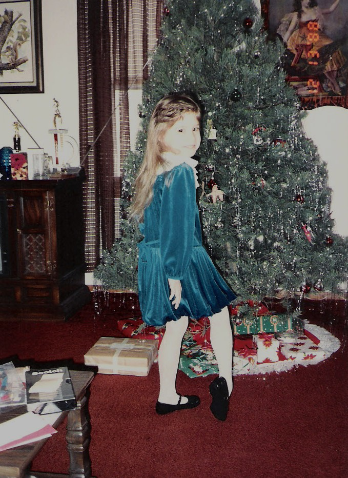 Blue velvet dress 2