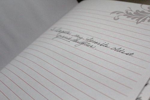 Journal dedication