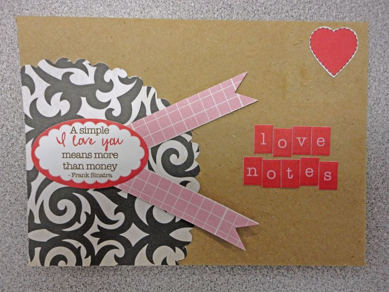 Love notes envelope front