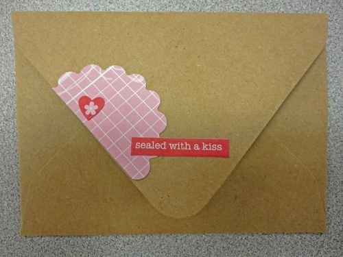 Love notes envelope back
