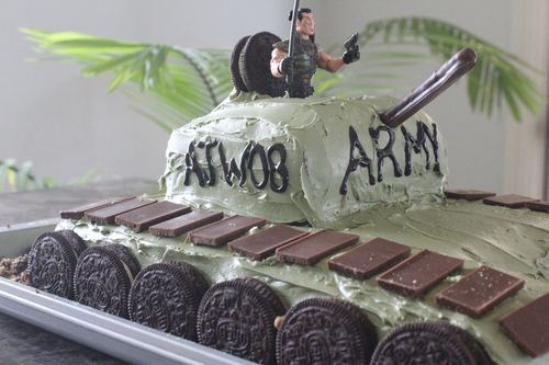 Pink Nostalgia How To Army Tank Birthday Cake