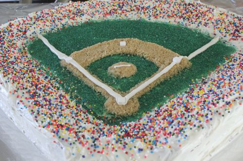 Marvelous Pink Nostalgia How To Baseball Field Birthday Cake Funny Birthday Cards Online Fluifree Goldxyz