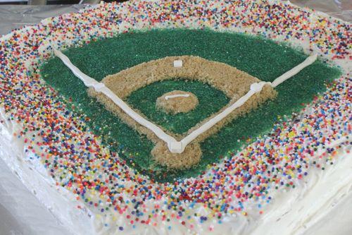 Wondrous Pink Nostalgia How To Baseball Field Birthday Cake Funny Birthday Cards Online Fluifree Goldxyz